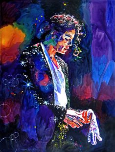 'The Final Performance - Michael Jackson' - Oil on canvas; Love the colors; not to mention the emotion captured; very life like!