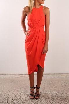 Turn Up The Heat Dress Orange