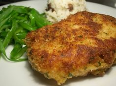 Parmesan Crusted Pork Chops. I like the method. A little different, and probably better than the usual.