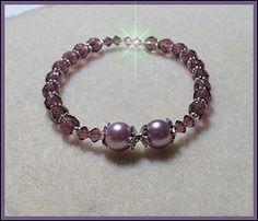 Dreamy Purple Pearl Bracelet