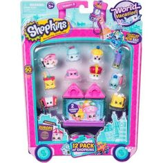 Shopkins World Vacation (Europe) Pack - It's so exciting over here in Europe! Come and join us on a World Vacation! With so many new Shopkins to meet on our travels, from Fabulous France to Pretty Italy, we really wish you were here! Shopkins Season 8, New Shopkins, Shopkins Guide, Shopkins Gifts, Shopkins Room, Shopkins Figures, Shopkins World Vacation, Shopkins And Shoppies, Shoppies Dolls
