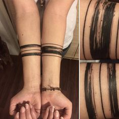Brush stroke tattoo bands...