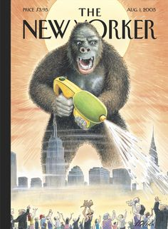"The New Yorker - Monday, August 1, 2005 - Issue # 4130 - Vol. 81 - N° 22 - Cover ""Son of Kong"" by Harry Bliss"