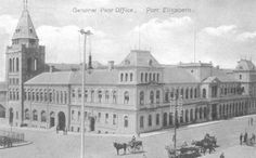 The Main Post Office of Port Elizabeth Port Elizabeth, Post Office, Fast Cars, Vintage Cars, South Africa, Taj Mahal, Maine, Om, Past