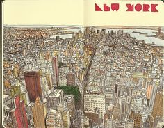 #moleskine #sketchbook - New York: contributed by Rafael Fornas