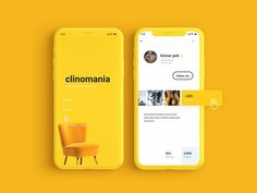 How lovely yellow is ✨ login furniture card app yellow vector ux ui icon vietnam typography design illustration Coperate Design, App Ui Design, Interface Design, User Interface, Design Layouts, Flat Design, Interior Design, Ui Design Mobile, Mobile Ui