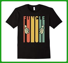 Mens Men's Funny Uncle Vintage Funcle T-Shirt Large Black - Relatives and family shirts (*Amazon Partner-Link)