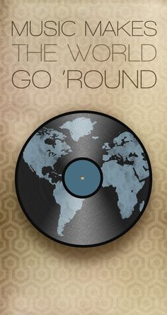 Music makes the world go 'round | Poster via Laceybabe on Etsy #art #piano #inspire