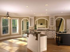 two tone cabinets | Traditional Two-Tone Kitchen Cabinets | Dream Home