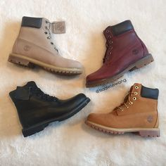 Timberland Premium Boots in Wheat, Jet Black, Grey and Burgundy!