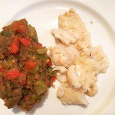 cuisinedemememoniq:Filets de poisson (cabillaud) sauce aux...