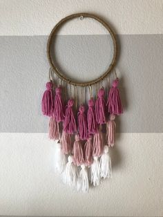 Your place to buy and sell all things handmade Diy Crafts For Home Decor, Diy Crafts To Do, Diy Home Decor Bedroom, Easy Yarn Crafts, Gatos Cool, Dream Catcher Decor, Woolen Craft, Handmade Birthday Gifts, Macrame Wall Hanging Diy