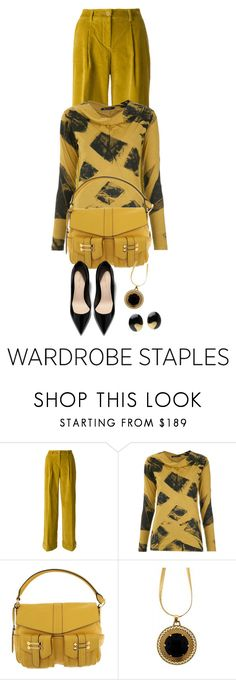 """This Falls Yellow Must Have Classics"" by shamrockclover ❤ liked on Polyvore featuring P.A.R.O.S.H., Uma 
