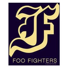 Long Lasting Sticker Aufkleber DECAL 2.5 x 7.5 Officially Licensed Original Artwork FOO FIGHTER Logo