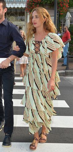 WHO: Alexia Niedzielski WHAT: Sonia Rykiel dress, Valentino shoes WHEN: July 31, 2015 WHERE: Borromeo/Casiraghi Wedding in Stresa, Italy