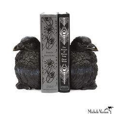 Raven Bookends - Horror.Society.Goods. #goth #home #decor #interiors #witchyvibes