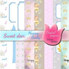 Happy Baby 8 digital paper