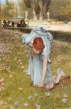 Lawrence Alma-Tadema - Flora; Spring in the Gardens of the Villa Borghese (1877)