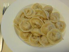 Another Ukrainian favourite--pilmeni. Similar to perogies, but smaller. Ukrainian Recipes, Russian Recipes, Ukrainian Food, Holiday Recipes, Great Recipes, Favorite Recipes, Good Food, Yummy Food, International Recipes