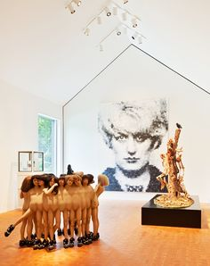 At the Wiley House, in New Canaan, Connecticut, Ferris built a private art gallery on the foundation of a 19th-century barn, topping it with a traditional gabled roof. The owner then populated it with work by such artists as Marcus Harvey and  Jake and Dinos Chapman,.