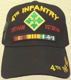Army IV Infantry Division Ivy Iron Horse Vietnam Veteran Vet Cap Hat OS for sale online Horse Armor, Ivy Leaf, United States Army, Vietnam Veterans, Cool Hats, Job S, Us Army, Division, Iron