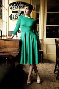 Katie 1940s Style Ponte Dress