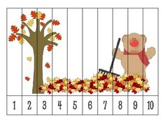 9 autumn number order puzzles {FREEBIE still free as of 8/13/14}