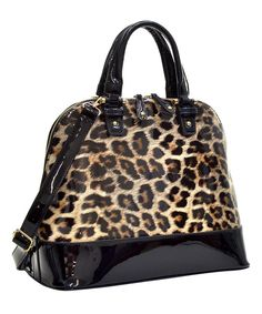 Look at this Leopard Lawren Dome Satchel on #zulily today!