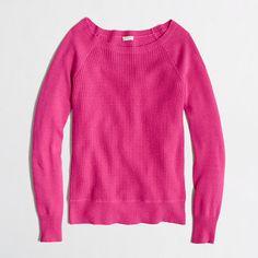 Factory warmspun waffle crewneck sweater J. Crew Factory $54.50 Size M Crisp Begonia