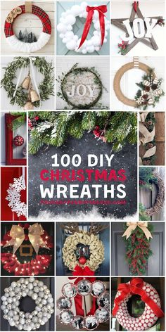 100 Best DIY Christmas Wreaths 100 Best DIY Christmas Wreaths,Christmas DIY 100 Cheap and Easy DIY Christmas Wreaths Related posts:How to Make Inexpensive Dollar Tree Christmas Votive Holders - Dollar. Diy Christmas Garland, Dollar Tree Christmas, Holiday Wreaths, All Things Christmas, Simple Christmas, Christmas Holidays, Christmas Ideas, Christmas Decorations Diy Cheap, Diy Christmas Projects