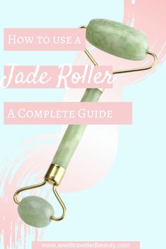 Jade rollers can help reduce puffiness in the face and increase circulation helping products work better. Read on! Best Beauty Tips, Diy Beauty, Beauty Makeup, Jade, Gel Nails, Manicure, Hair Tools, Face And Body, Natural Skin Care