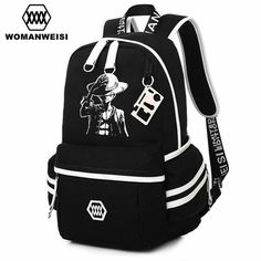 One Piece Backpack Canvas Fashion Student School Bag //Price: $47.00 & FREE Shipping //     #onepiece #onepieceanime #dluffystore