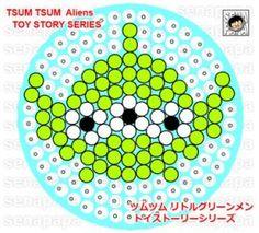 tsum tsum perler aliens