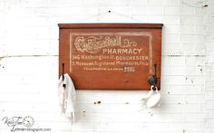 Colonial Pharmacy Sign - super cool and looks so authentic!