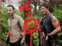 Rick Grimes, Me, & Daryl Dixon, The Walking Dead ;-)