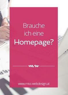 Bist du noch unsicher, ob du wirklich eine Homepage brauchst? Ich nennen dir 6 Gründe, warum du von einer eigenen Website profitierst.   http://www.miss-webdesign.at