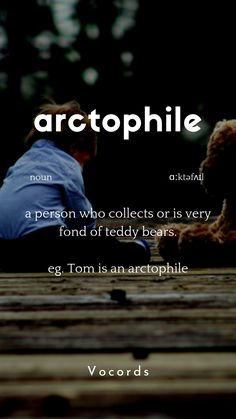 a person who's fond of teddy bears. Beautiful Words In English, Interesting English Words, Unusual Words, Weird Words, English Idioms, English Phrases, Learn English Words, English Learning Spoken, English Language Learning