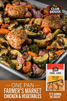 Make an easy, family-friendly weeknight dinner with just one pan and one seasoning! Coat chicken and vegetables with New One Sheet Pan Farmer's Market Seasoning and let your oven do the rest. Healthy Chicken Recipes, Cooking Recipes, Pan Cooking, Zucchini Zoodles, Comida Keto, Health Dinner, Chicken And Vegetables, Veggies, Healthy Eating Recipes