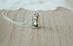 Sterling Silver Hourglass Necklace