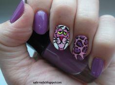 Day 6: Violet nails