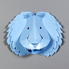 Décor mural, Stickers 3D Lion Bleu / design by Emma Roux #StudioEmmaRoux