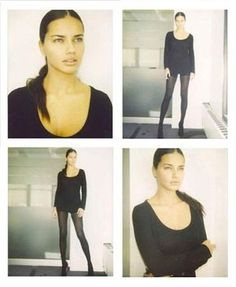 Career any model begins with the fact that she comes to the agency, where she quickly photographed on Polaroid. Now it is especially strange to see the first pictures of famous models such as Gisele Bundchen or Adriana Lima.  Adriana Lima