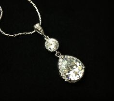 awesome Etsy listing at http://www.etsy.com/listing/129236764/bridal-necklace-cubic-zirconia-teardrop