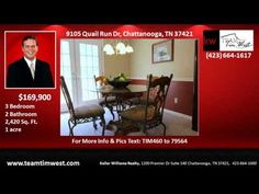 3 bedroom Home for Sale in Quail Run Subdivision Chattanooga TN - YouTube
