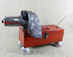 Dachshund  Dog  Robot  STRETCH  assemblage by reclaim2fame on Etsy