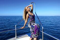 Remake glamour de Titanic en longue robe fluide Joseph Ribkoff - Collection printemps / été 2017. A retrouver dans notre boutique New Capucine à Vesoul.