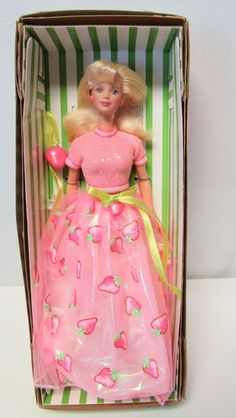 Avon Barbie Doll Barbie Strawberry Sorbet Barbie Still Boxed #Mattel #DollswithClothingAccessories