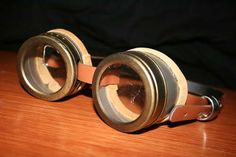 Upcycled Steampunk Goggles, for Amelia Earhart costume