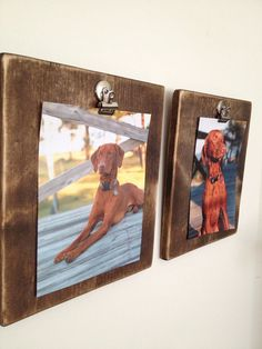 Wood Picture Frame with Clip on Etsy, $30.00