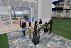 UCLA Library in Second Life - Leigh Harris' English Comp class